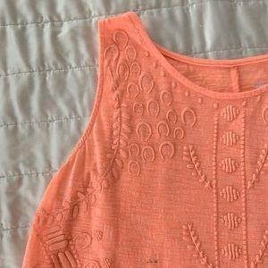Orange Tank with pattern